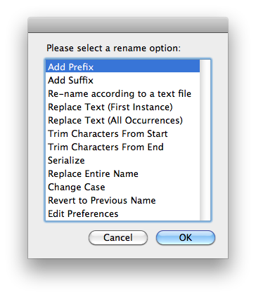 How to use the Mac OS X Batch File Rename Utility