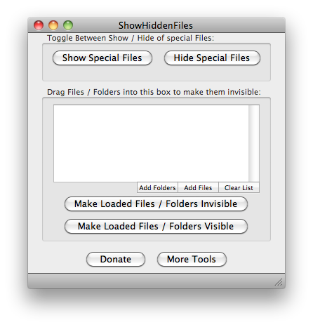 How to Show all files on the Mac